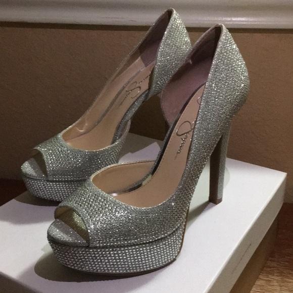 Jessica Simpson Shoes - Jessica Simpson Silver heels